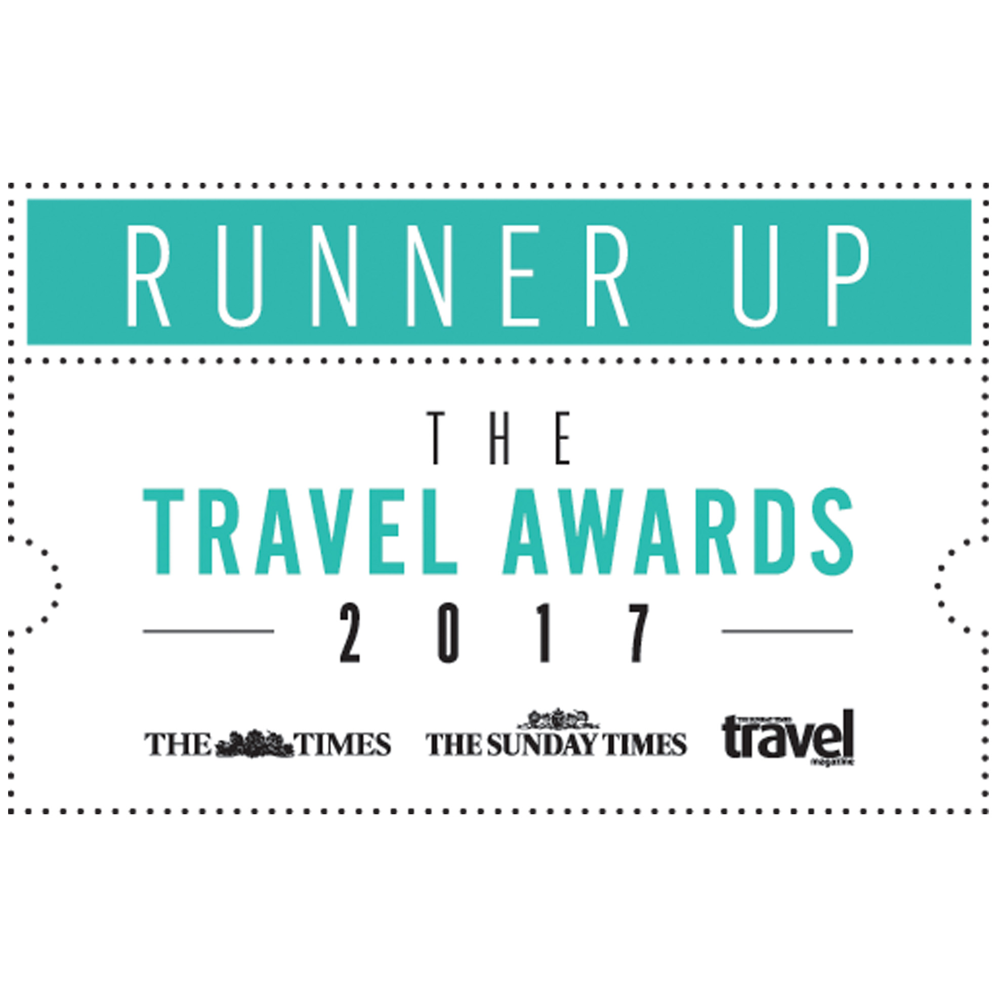 The Times and Sunday Times Travel Awards 2017 - Runner Ups