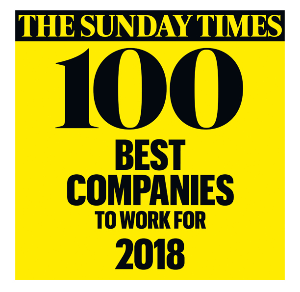 The Sunday Times Best Companies to Work For 2018