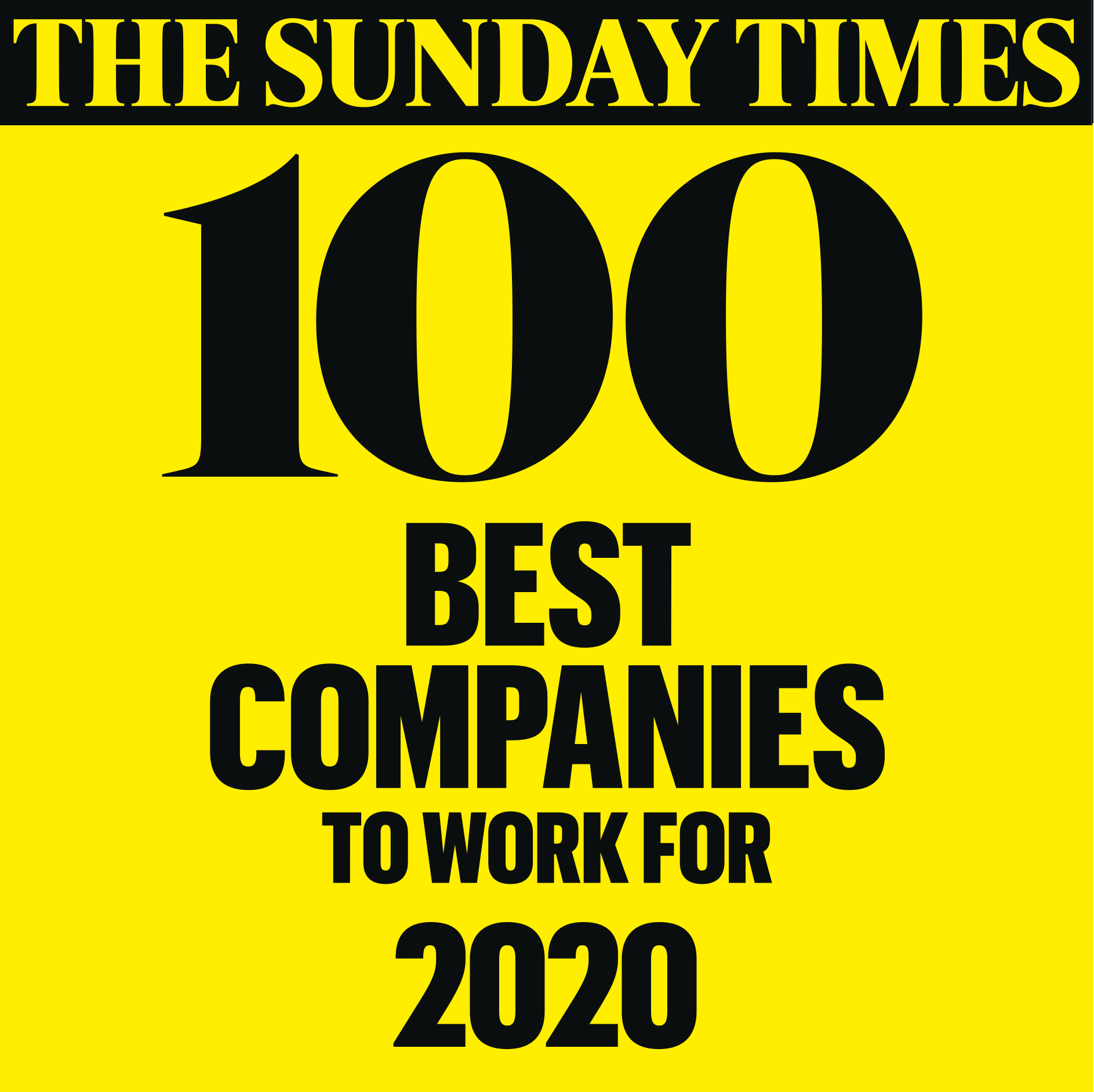 The Sunday Times Best Companies to Work For 2020