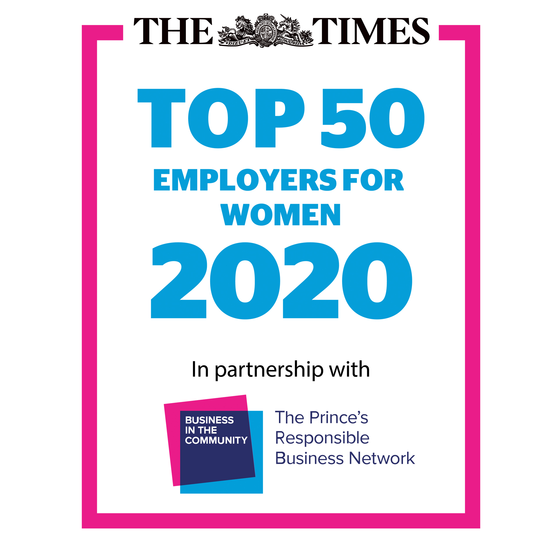 The Times Top 50 Employers For Women 2020
