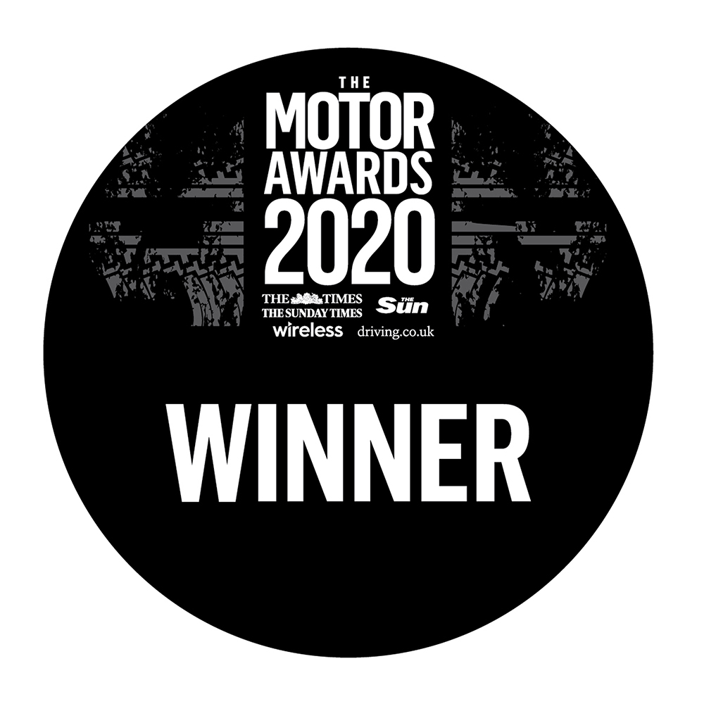 The Times, The Sunday Times, The Sun, Wireless and Driving.co.uk Motor Awards Winner 2020