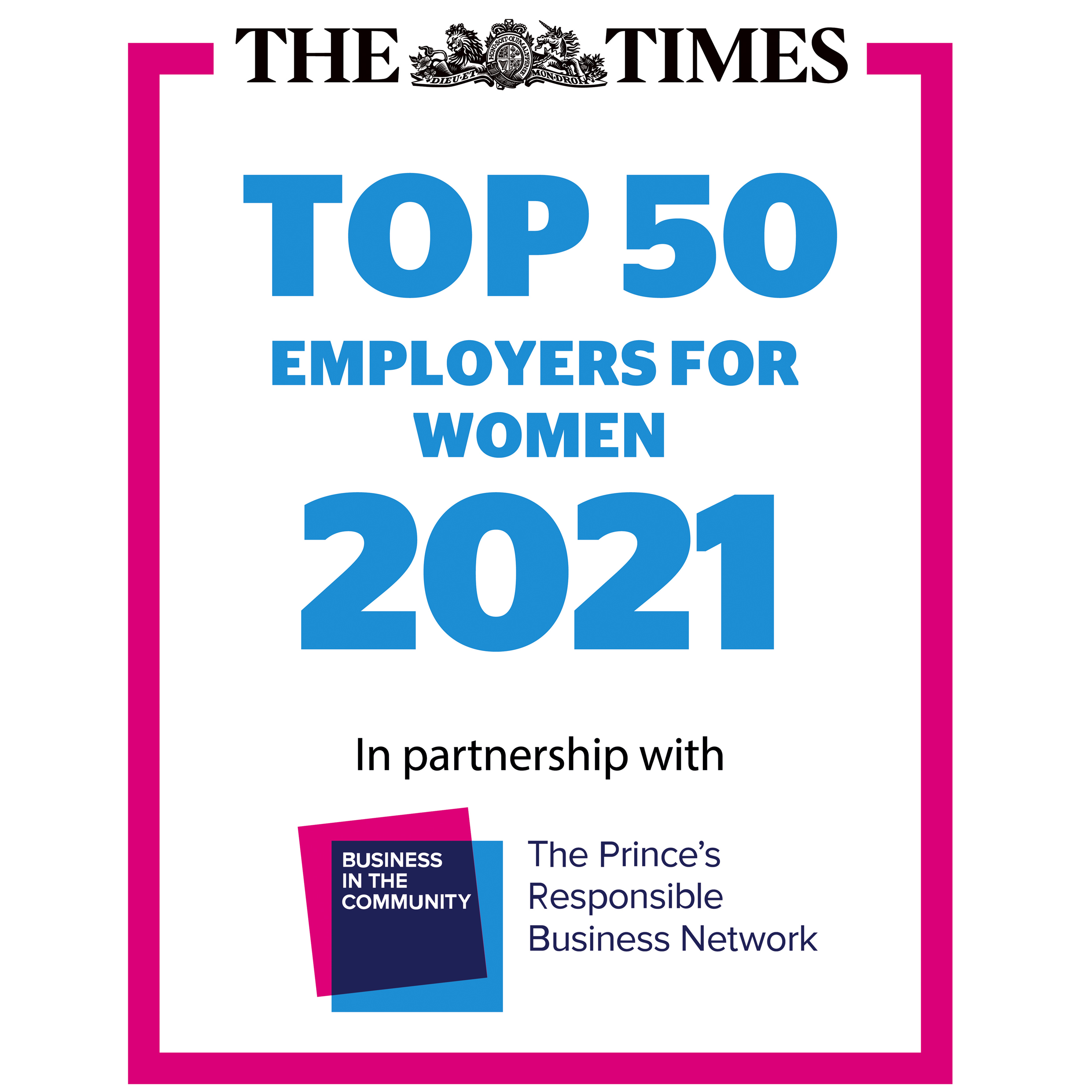 The Times Top 50 Employers For Women 2021