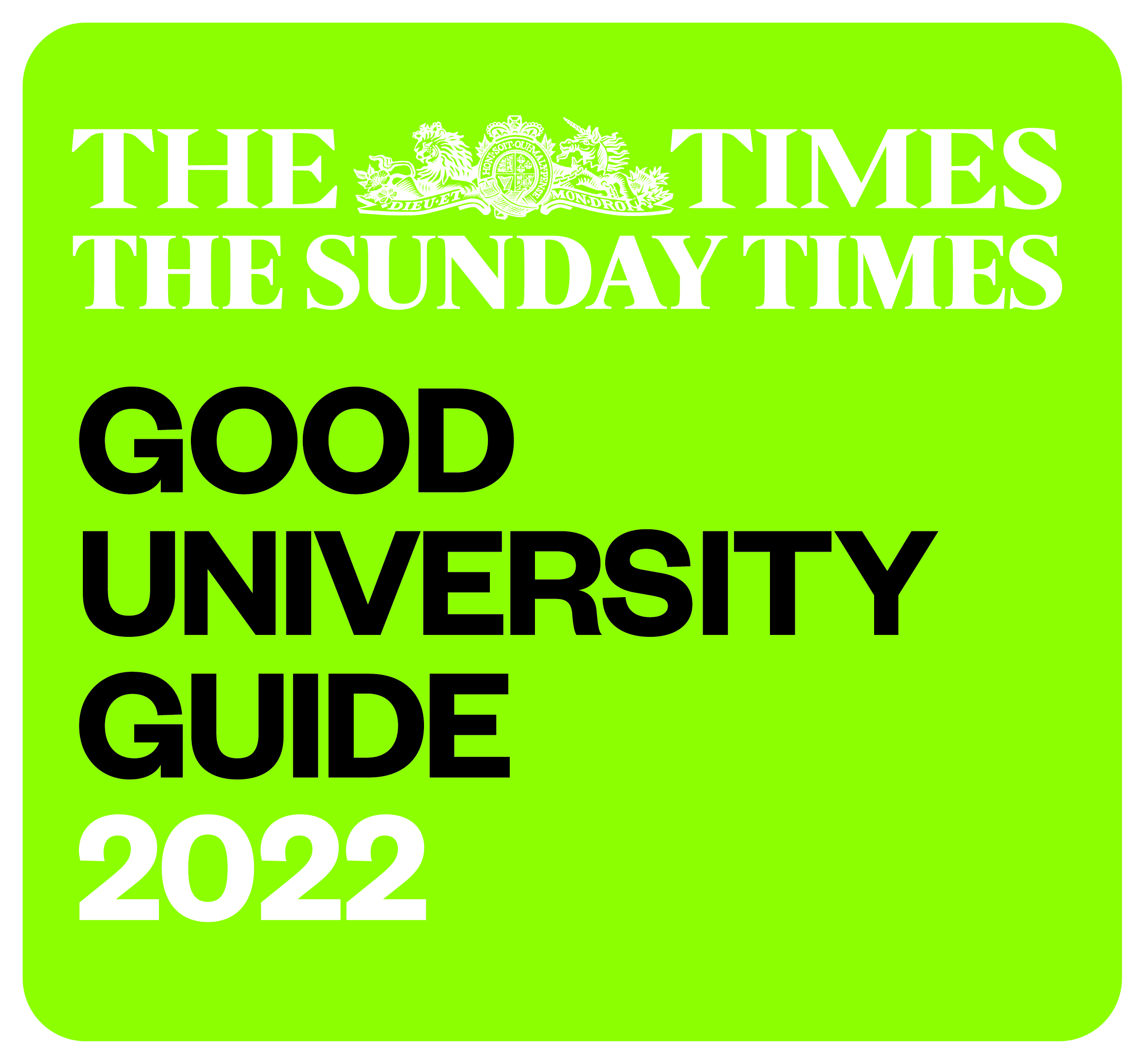 The Times and Sunday Times Good University Guide 2022